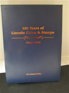 PCS Stamps & Coins 100 Yrs LINCOLN COINS & STAMPS