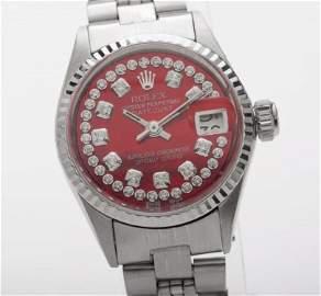 Estate $7000 Red MOP Diamond Rolex DateJust