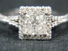 300 CTW Diamond Princess Halo Engagement Ring