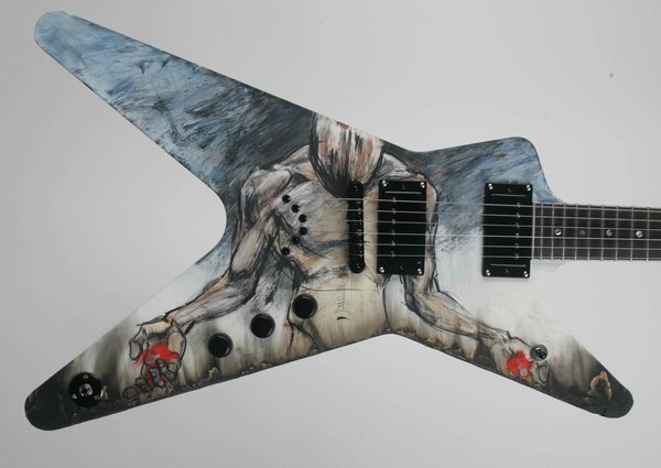 7: Derek Hess, Painted Electric Guitar