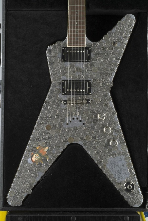 12: Kirk Hammett_Metallica,Painted Electric Guitar