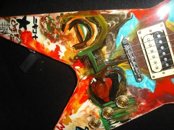 13: Tommy Lee_Motley Crue,Painted Electric Guitar