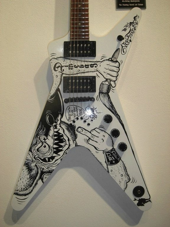 14: Von Franco, Painted Electric Guitar