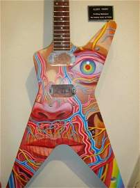 21: Alex Grey, Painted Electric Guitar