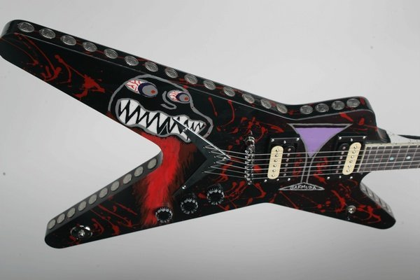 23: Kerry King_Slayer, Painted Electric Guitar
