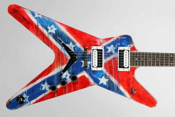 25: Rob Zombie, Hand-painted Electric Guitar
