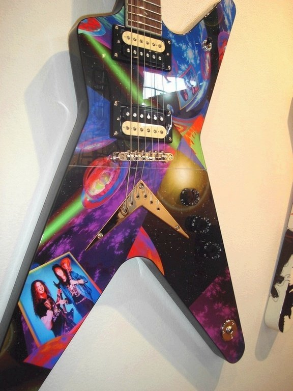 26: Ace Frehley_KISS, Digital Design + Photo on Guitar