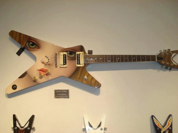 mark ryden hand painted electric guitar