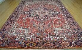 Persian azarbajan heriz style rug wool pile vintage