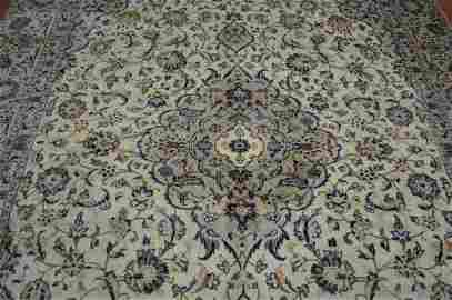 Persian kashan style rug wool pile vintage hand knotted