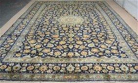 Persian Isfahan blue design style rug wool pile vintage