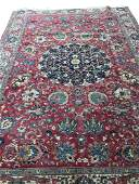 Persian tabriz 126b style rug wool pile vintage hand
