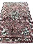 Persian tabriz 130 style rug wool pile vintage hand