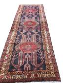 Persian serapi 132 style rug wool pile vintage hand