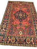 Persian hunting tabriz 151 very fine antique style rug