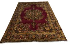 Persian tabriz 3860 Antique style rug wool pile vintage