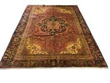 Persian heriz 3788 fine antique wool pile rug hand