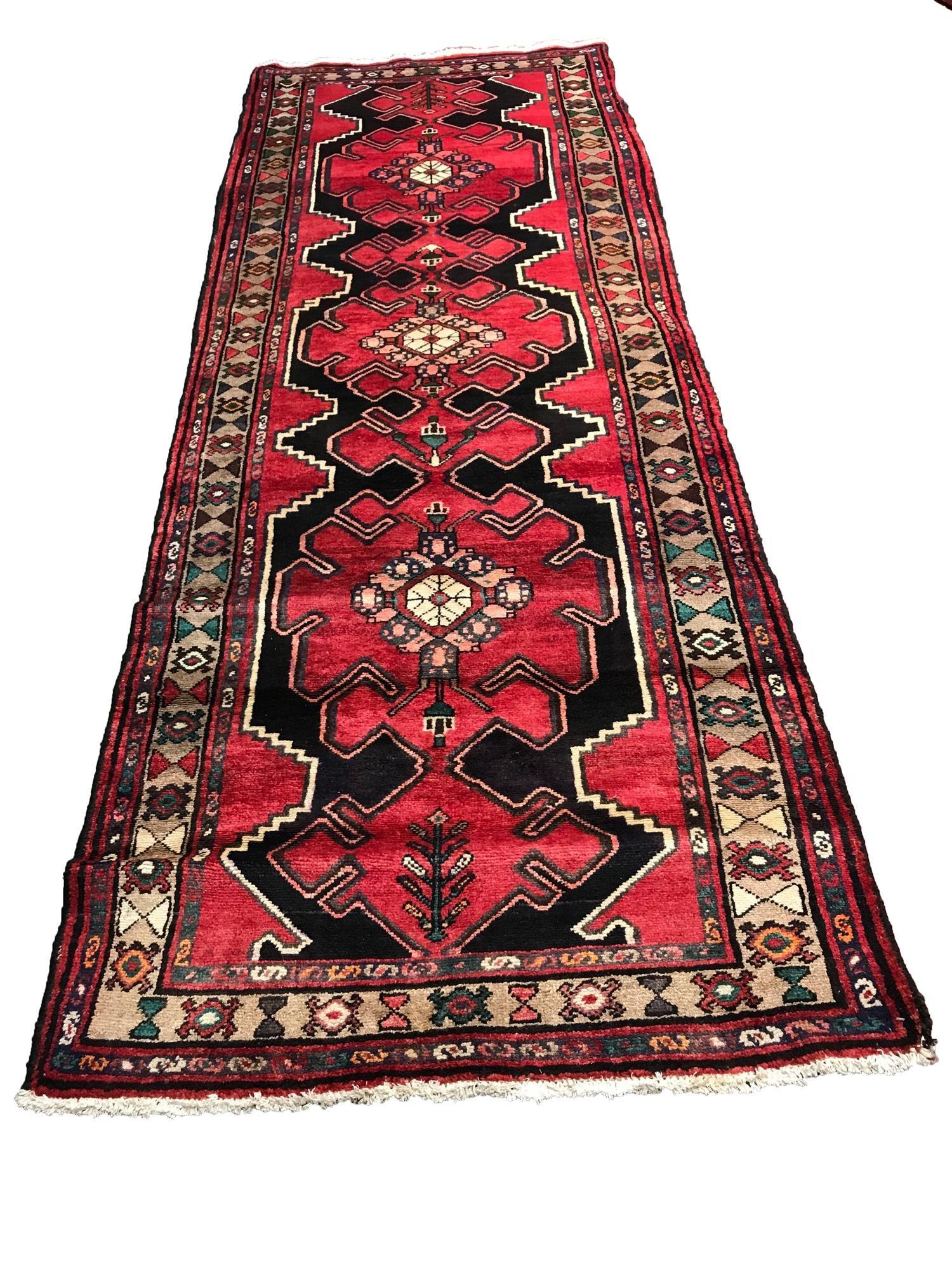 Persian Kashan MA424 style rug wool pile vintage hand