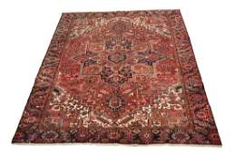 Persian antique serapi d108 style rug wool pile