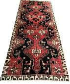 Persian serapi 528 style rug wool pile vintage hand