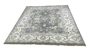 Persian oushak 37 style rug wool pile hand knotted