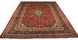 Persian kashan 1259 fine antique wool pile rug hand