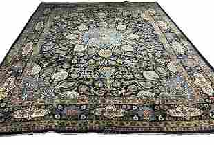 Persian kashmar 1404 style rug wool pile vintage hand