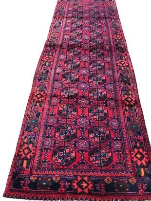 Persian hamadan 134  style rug wool pile vintage hand