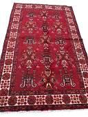 Persian kashkuli 150 style rug wool pile vintage hand