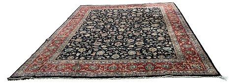 Persian Mashad 28 style rug wool pile vintage hand