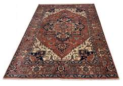 Serapi d128 style rug wool pile vintage hand knotted