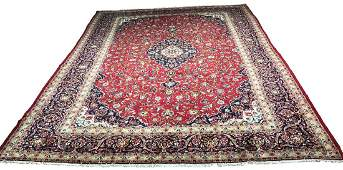Persian Isfahan 1166 style rug wool pile hand knotted