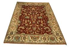 Persian Serapi D109 style rug wool pile vintage hand