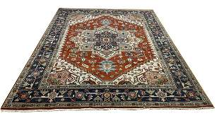Persian SERAPI D133 style rug wool pile vintage hand