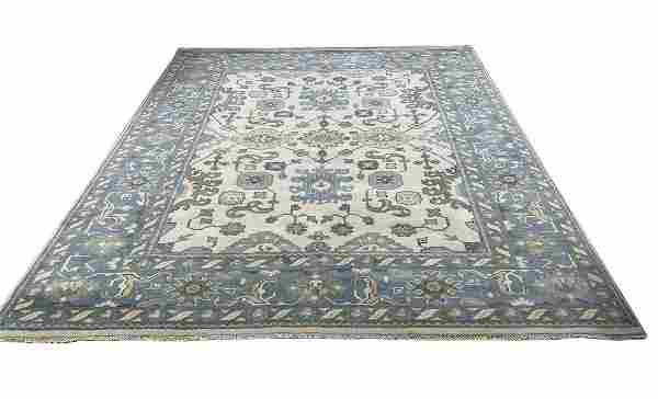 Persian Oushak D136 style rug wool mint condition hand
