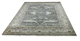 Persian oushak d137 style mint condition  rug wool hand