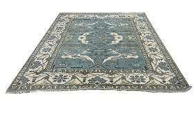 Persian Oushak d138 design style rug wool pile