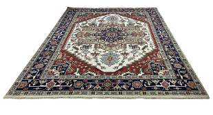 Persian serapi d139 style rug wool pile hand knotted