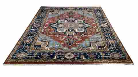 persian serapi d141 geometric  style rug wool pile