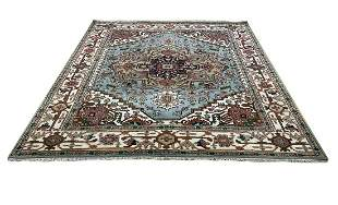 serapi d142 style rug wool pile vintage hand knotted