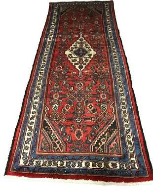 Persian bijar 1280 style rug wool pile vintage hand