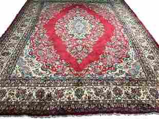Persian kerman 750a style rug wool pile vintage hand