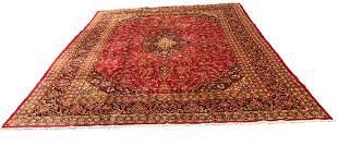 Persian Kashan 3040 style rug wool pile vintage hand