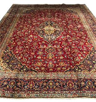 Persian kashan 1307a rug wool pile hand knotted