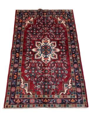 Persian bijar 314 style rug wool pile vintage hand