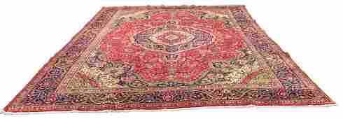 Persian tabriz 1421 style rug wool pile hand knotted