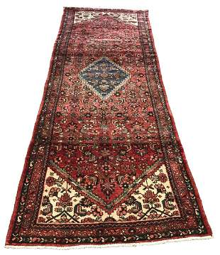 Persian bijar 942 style rug wool pile hand knotted