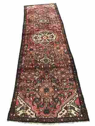 Persian bijar 39 style rug wool pile vintage hand
