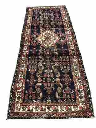 Persian bijar 1320 136 rug wool pile vintage hand