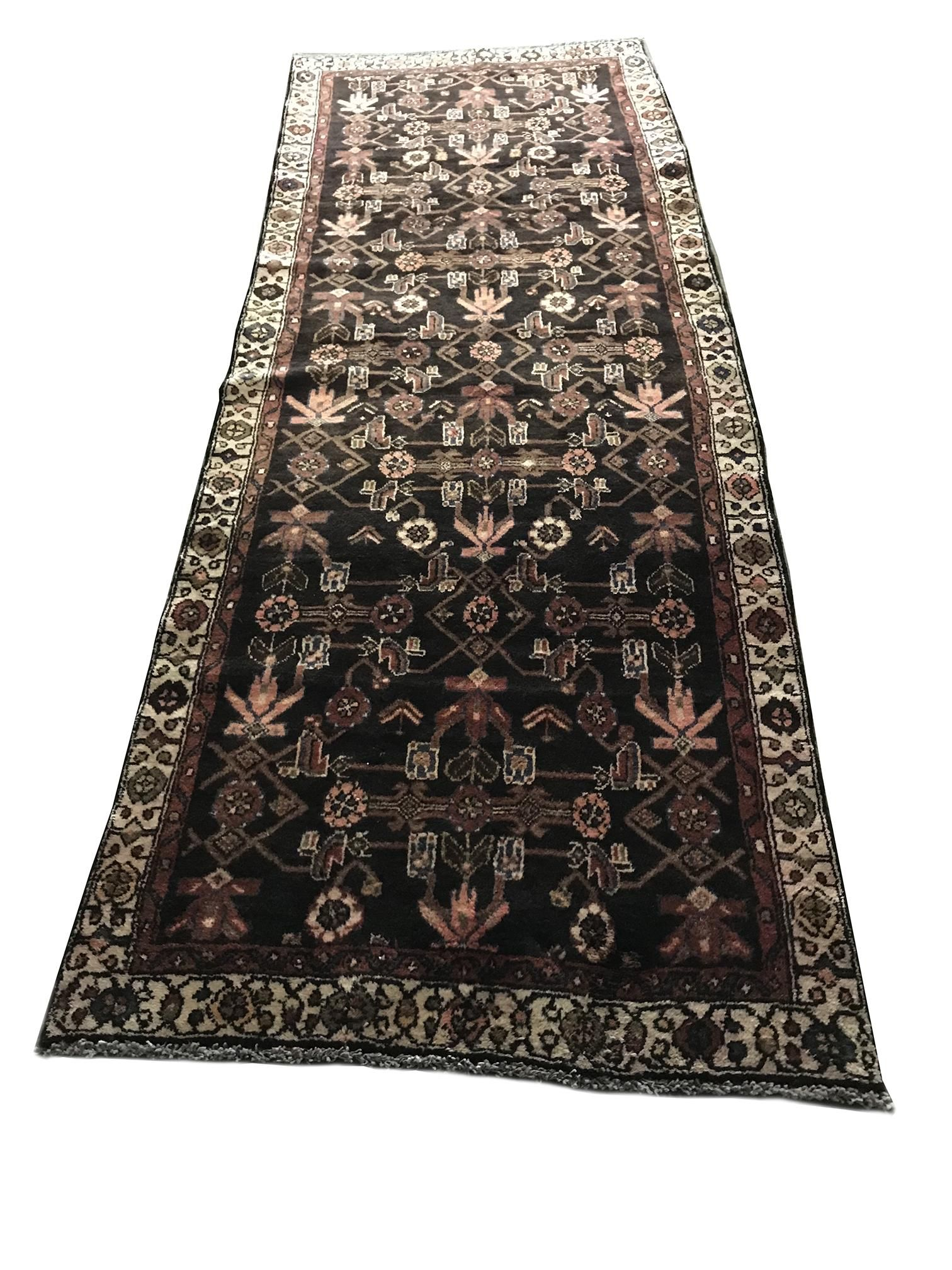 Persian tabriz 794a style rug wool pile vintage hand